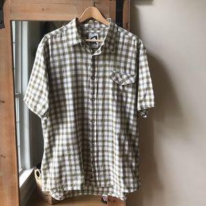 Mountain Khakis olive plaid button shirt